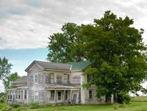 Old Gray House in Upper  New York State. Stock Photo