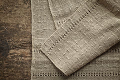 Old gray linen napkin Royalty Free Stock Photography