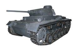 Old gray medium tank Stock Image