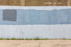 Old gray painted wall Royalty Free Stock Images