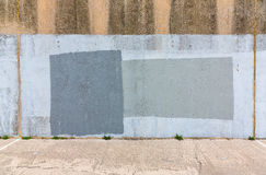 Old gray painted wall Stock Photos