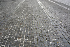 Old gray pavement Stock Photos