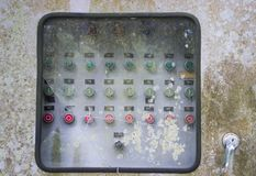 Old button control panel royalty free stock photos