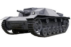 Old gray self-propelled gun Royalty Free Stock Photography