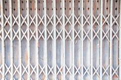 Old gray steel door Royalty Free Stock Photography