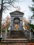 Old gray stone bridge in the Catherine Park Stock Image