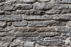Old gray stone wall, background Royalty Free Stock Photos
