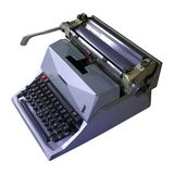 Old gray typewriter Stock Image
