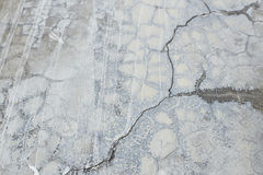 Old gray wall Broke Concrete Royalty Free Stock Photo