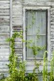 Old Gray Window Stock Photo