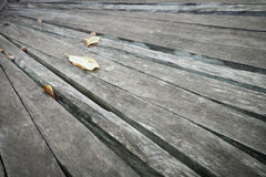 Old gray  wood plank at an angle background texture Royalty Free Stock Image