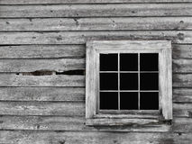Free Old Gray Wood Wall With Window Background. Stock Image - 26677521