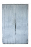 Old gray wooden door isolated on white Royalty Free Stock Photos