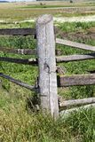 old gray wooden fence royalty free stock photography
