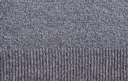Old Gray Woolen Fabric Texture Stock Images