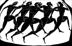 Old greece athletes Stock Photography