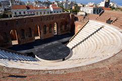 Old greece theater odeon in the city of Patras Royalty Free Stock Photo