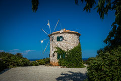 Old Greece windmill Stock Photography
