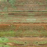 Old greeen wood plank background. Closeup Stock Images