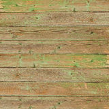 Old greeen wood plank background. Stock Photos