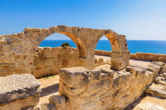 Old greek arches ruin city of Kourion near Limassol, Cyprus Stock Images