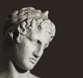Old Greek bust Stock Photography