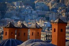 Old Greek chimneys Royalty Free Stock Images