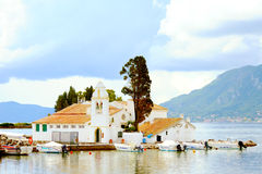 Vlacherna church, Kanoni in Kerkyra, Corfu, Greece Stock Photography