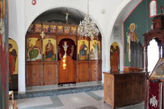 Old greek church inside Royalty Free Stock Image
