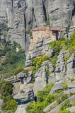 Old Greek church on Meteora mountain Royalty Free Stock Photo