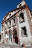 Old Greek Church and New Mosque in Talas, Kayseri. Royalty Free Stock Photos