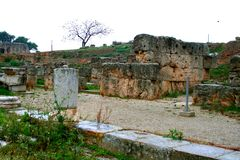 Old Greek corinth. Landscapes of ancient Greece Stock Image