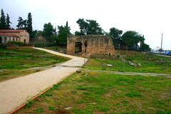 Old Greek corinth. Landscapes of ancient Greece Royalty Free Stock Image