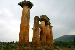 Old Greek corinth. Landscapes of ancient Greece Stock Photography