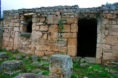 Old Greek corinth. Landscapes of ancient Greece. the remains of the old corinth Stock Photography