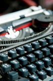 Old greek - english typewriter Royalty Free Stock Photography