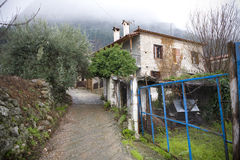 Old Greek house. Old Greek mountain house in Parnassos Royalty Free Stock Photography