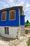 Old greek houses made of stone on Thassos island Royalty Free Stock Photography