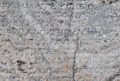 Old greek inscription on marble Stock Images
