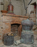 Old Greek ouzo (anice) distillery Royalty Free Stock Photo
