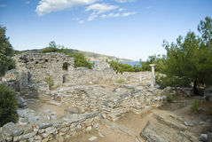 Old greek ruins. Old ruins of a beautiful Greek Island Royalty Free Stock Photography
