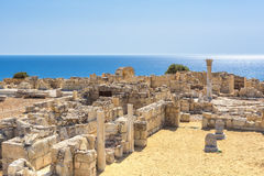 Old greek ruins city of Kourion near Limassol, Cyprus Stock Photography