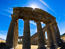 Old greek temple at Segesta, Sicily Royalty Free Stock Photography