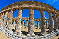 Old greek temple at Segesta, Sicily Stock Image