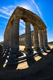Old greek temple at Segesta, Sicily Stock Photo