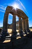 Old greek temple at Segesta, Sicily Royalty Free Stock Photos