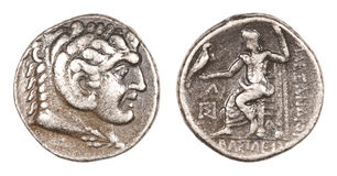 Alexander the Great Coin Stock Images
