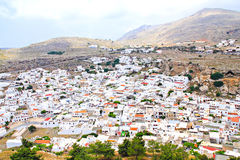 The old greek town of Lindos Stock Images