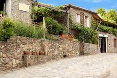 Old Greek village Parthenonas Stock Images