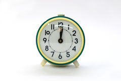 Old green alarm clock Royalty Free Stock Photo